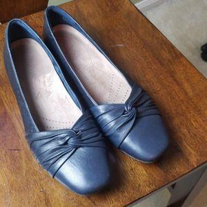 Clarke Leather Flats